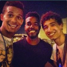 Singer Luke James and Darien Hutchinson and Devin Torkelsen