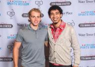 Patrick Kane of the Chicago Blackhawks and Devin Torkelsen