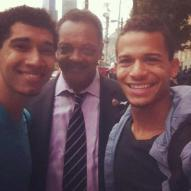 Rev. Jesse Jackson and Devin Torkelsen