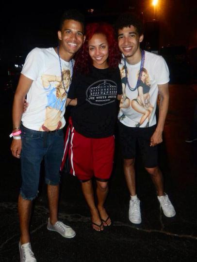 Dancer Ashley Everett with Devin Torkelsen and Darien Hutchinson