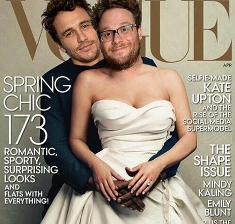 James Franco, Seth Rogen find inspiration in Kimye's Vogue cover