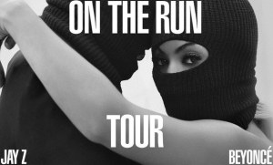 The official poster for the On The Run tour scheduled to start on June 25th in Miami.