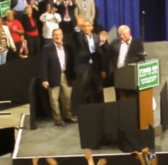 I even got a wave from the President!