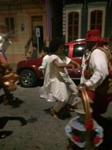 Solange danced in a parade down a New Orleans street celebrating her new marriage!
