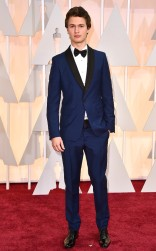 Ansel Elgort at the 87th annual Academy Awards