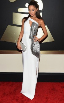 Ariana Grande at the 57th annual Grammy Awards.