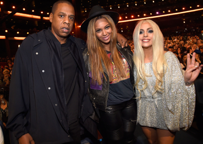 Jay Z, Beyoncé, and Lady Gaga at the Stevie Wonder: Songs In The Key of Life – An All-Star Grammy Salute event on Feb. 10, 2015.