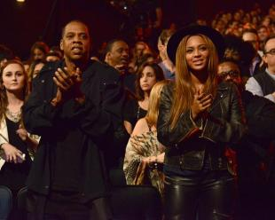 Jay Z and Beyoncé at Stevie Wonder: Songs In The Key of Life – An All-Star Grammy Salute event on Feb. 10, 2015.