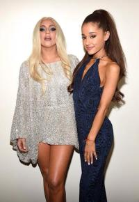 Lady Gaga and Ariana Grande at Stevie Wonder: Songs In The Key of Life – An All-Star Grammy Salute event on Feb. 10, 2015.