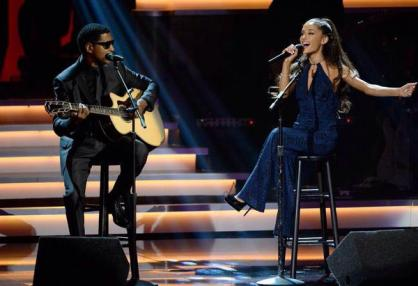 Babyface and Ariana Grande performing at Stevie Wonder: Songs In The Key of Life – An All-Star Grammy Salute event on Feb. 10, 2015.