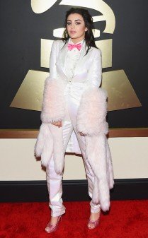 Charlie XCX at the 57th annual Grammy Awards