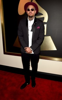 Chris brown at the 57th annual Grammy Awards