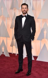 Chris Evans at the 87th annual Academy Awards