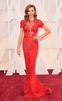 Giuliana Rancic at the 87th annual Academy Awards
