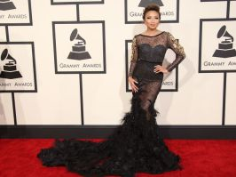 Jeannie Maj, host on daytime talk show The Real, at the 57th annual Grammy Awards in LA