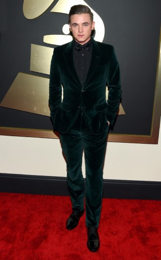 Jesse McCartney at the 57th annual Grammy Awards.