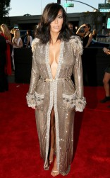 Kim Kardashian at the 57th annual Grammy Awards