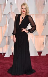 Margot Robbie at the 87th annual Academy Awards