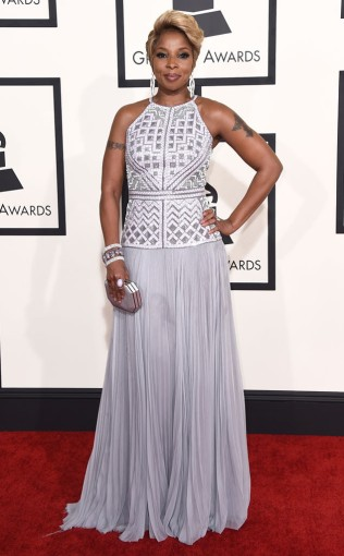 Mary J. Blige at the 57th annual Grammy Awards
