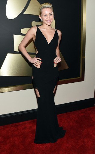 Miley Cyrus at the 57th annual Grammy Awards