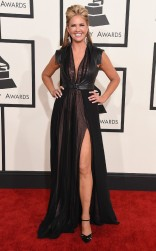 Nancy O'Dell at the 57th annual Grammy Awards
