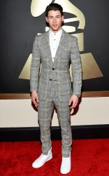 Nick Jonas at the 57th annual Grammy Awards