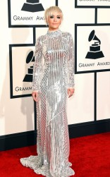Rita Ora at the 57th annual Grammy Awards