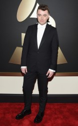Sam Smith at the 57th annual Grammy Awards.