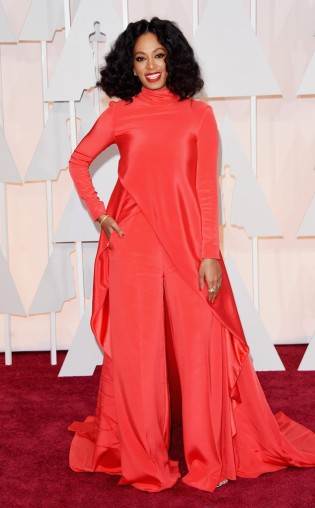Solange Knowles at the 87th annual Academy Awards