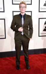Tyler Oakley at the 57th Grammy Awards.