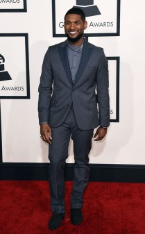 Usher at the 57th annual Grammy Awards