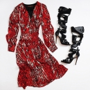 Wrap Dress- Single +$500 Boots- Herve Leger $229