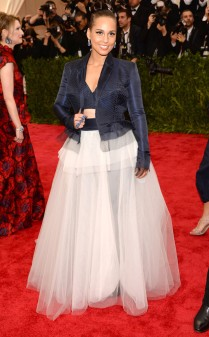 Alicia Keys at the 2015 Met Gala on May 4, 2015 at the Costume Institute Benefit Gala at the Metropolitan Museum of Art in New York.