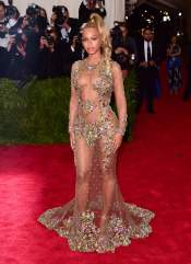 Beyonce at the 2015 Met Gala on May 4, 2015 at the Costume Institute Benefit Gala at the Metropolitan Museum of Art in New York.