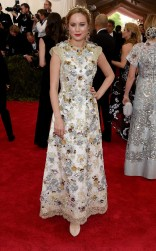 Brie Larson at the 2015 Met Gala on May 4, 2015 at the Costume Institute Benefit Gala at the Metropolitan Museum of Art in New York.