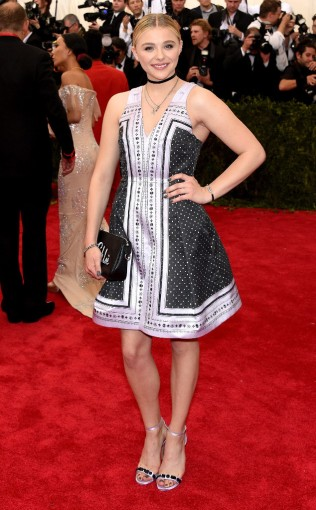 Chloe Grace-Moretz at the 2015 Met Gala on May 4, 2015 at the Costume Institute Benefit Gala at the Metropolitan Museum of Art in New York.