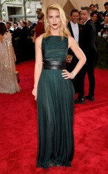 Claire Danes Valentino at the 2015 Met Gala on May 4, 2015 at the Costume Institute Benefit Gala at the Metropolitan Museum of Art in New York.