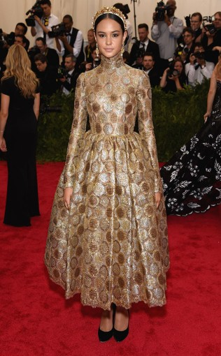 Courtney Eaton at the 2015 Met Gala on May 4, 2015 at the Costume Institute Benefit Gala at the Metropolitan Museum of Art in New York.