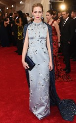 Emily Blunt at the 2015 Met Gala on May 4, 2015 at the Costume Institute Benefit Gala at the Metropolitan Museum of Art in New York.