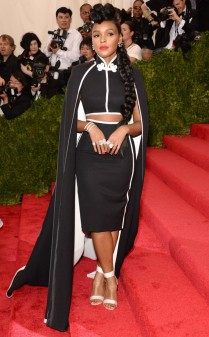 Janelle Monae at the 2015 Met Gala on May 4, 2015 at the Costume Institute Benefit Gala at the Metropolitan Museum of Art in New York.