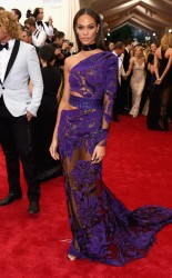 Joan Smalls at the 2015 Met Gala on May 4, 2015 at the Costume Institute Benefit Gala at the Metropolitan Museum of Art in New York.
