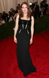 Julianne Moore at the 2015 Met Gala on May 4, 2015 at the Costume Institute Benefit Gala at the Metropolitan Museum of Art in New York.