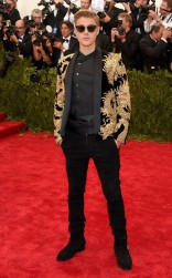 Justin Bieber at the 2015 Met Gala on May 4, 2015 at the Costume Institute Benefit Gala at the Metropolitan Museum of Art in New York.