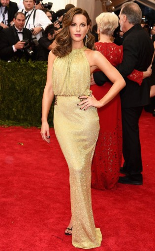 Kate Beckinsale at the 2015 Met Gala on May 4, 2015 at the Costume Institute Benefit Gala at the Metropolitan Museum of Art in New York.