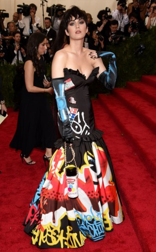 Katy Perry at the 2015 Met Gala on May 4, 2015 at the Costume Institute Benefit Gala at the Metropolitan Museum of Art in New York.