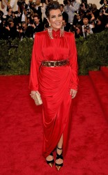Kris Jenner at the 2015 Met Gala on May 4, 2015 at the Costume Institute Benefit Gala at the Metropolitan Museum of Art in New York.