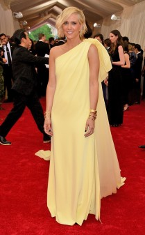 Kristen Wiig at the 2015 Met Gala on May 4, 2015 at the Costume Institute Benefit Gala at the Metropolitan Museum of Art in New York.