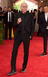 Larry David at the 2015 Met Gala on May 4, 2015 at the Costume Institute Benefit Gala at the Metropolitan Museum of Art in New York.
