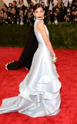 Lily Aldridge at the 2015 Met Gala on May 4, 2015 at the Costume Institute Benefit Gala at the Metropolitan Museum of Art in New York.