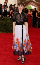 Lily Collins at the 2015 Met Gala on May 4, 2015 at the Costume Institute Benefit Gala at the Metropolitan Museum of Art in New York.